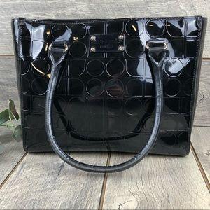 Kate Spade Black Patent Monogram Leather Tote Bag